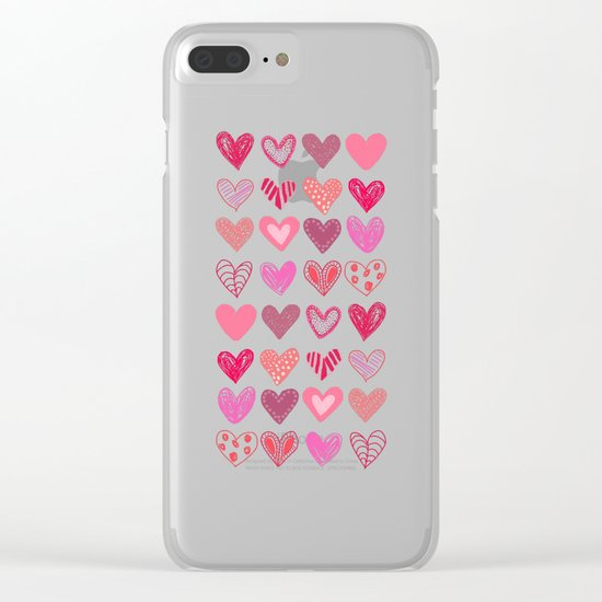 Many Hearts Clear iPhone Case