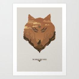 The Dread Wolf Rises Art Print