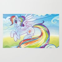 mlp Area & Throw Rugs featuring Rainbow Dash - MLP by mmishee