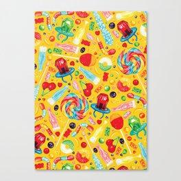 Candy Pattern - Yellow Canvas Print