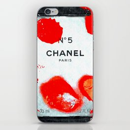 No 5 Red Splash iPhone Skin