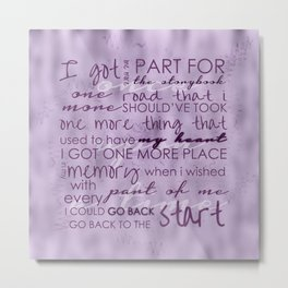 Go back to the start Metal Print