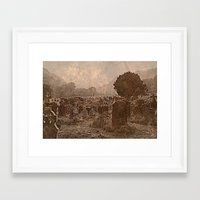 irish Framed Art Prints featuring Irish Graveyard  by Tru Images Photo Art
