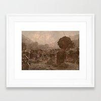 irish Framed Art Prints featuring Irish Graveyard  by Tru Artwear
