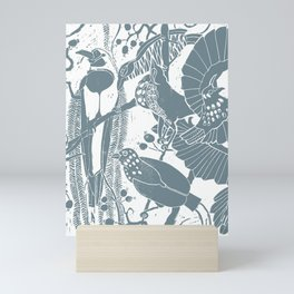 Blue Birds Of Paradise Mini Art Print