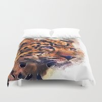 leopard Duvet Covers featuring Leopard by jbjart