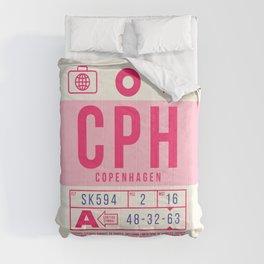 Baggage Tag B - CPH Copenhagen Kastrup Denmark Comforters