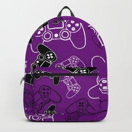 Video Games Purple Backpack