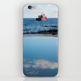 Whale watching boat iPhone Skin