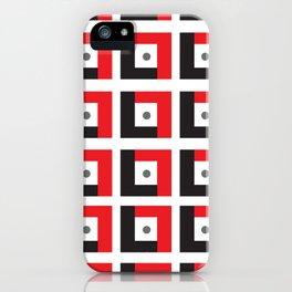 Red & Black L7 Squares iPhone Case