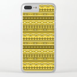 Modern Native Navajo Ethnic Tribal - Tuscan Sun Color Clear iPhone Case