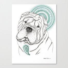 shar pei Canvas Print