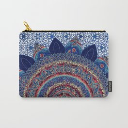 Baroque Lapis Mandala Carry-All Pouch
