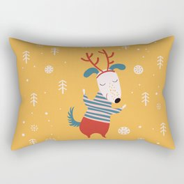 Merry Christmas card 4 Rectangular Pillow