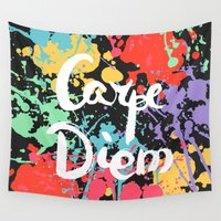 carpe diem Wall Tapestries featuring Carpe diem by Julia Badeeva