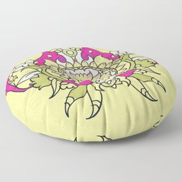 wild flower lotus Floor Pillow