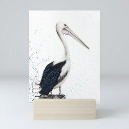 Beach Pelican Mini Art Print