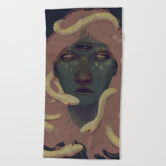 of witches and pets Beach Towel