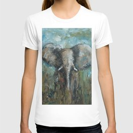The Elephant   Oil Painting T-shirt
