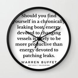 13  | Warren Buffett Quotes | 190823 Wall Clock