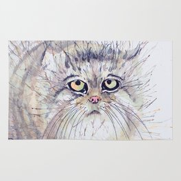 Watercolour cat Rug
