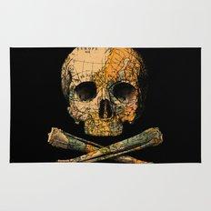 Treasure Map Skull Wanderlust Europe Rug