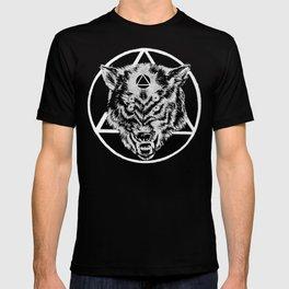Staring wolf T-shirt