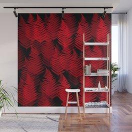 Red Fern Wall Mural