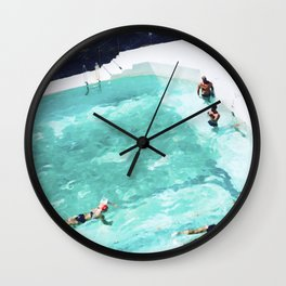 Resolutions (watercolour) Wall Clock