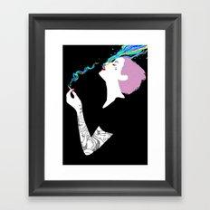 Chromatic Smoke Framed Art Print