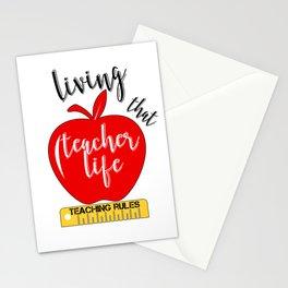 Teacher Life Teaching Rules School Funny Lesson Preschool Kindergarten Stationery Cards