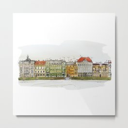 Architecture of Zagreb Metal Print