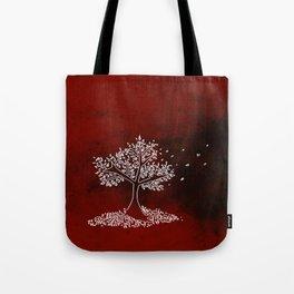 Wind Red Tote Bag