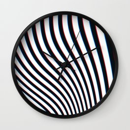 3D Waves Wall Clock