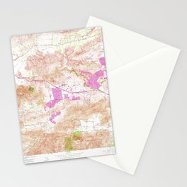Newbury Park, CA from 1950 Vintage Map - High Quality Stationery Cards