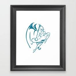 DUCOM Kickboxing Logo Framed Art Print