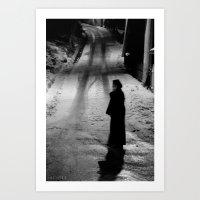 Nun on a Cellphone  Art Print