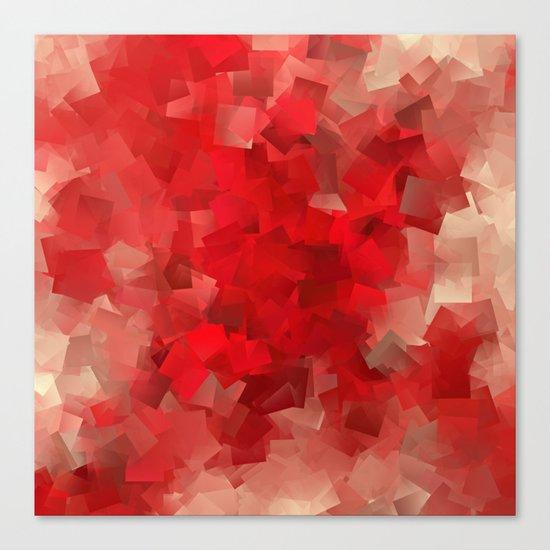 red modern pattern Canvas Print