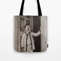 good morning Tote Bags featuring Good morning! by Amy Fan