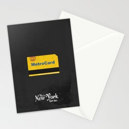 """This is New York for me. """"Metrocard"""" Stationery Cards"""