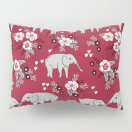 Alabama university crimson tide elephant pattern college sports alumni gifts Pillow Sham