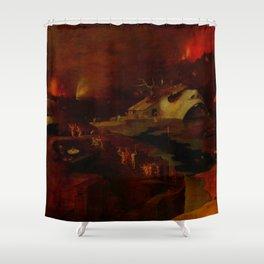 "Hieronymus Bosch (follower) ""Christ's Descent into Hell"" Shower Curtain"