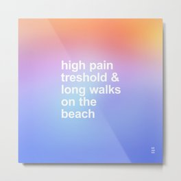 LONG WALKS ON THE BEACH Metal Print