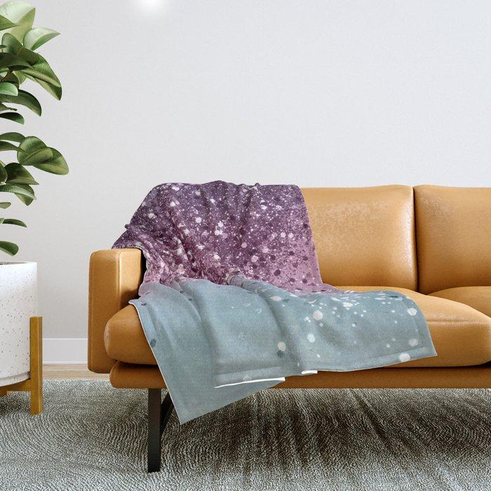 Unicorn Girls Glitter #6 #shiny #pastel #decor #art #society6 Throw Blanket