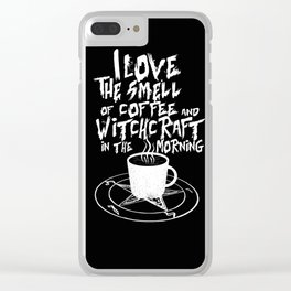 Dark Coffee Lover Clear iPhone Case
