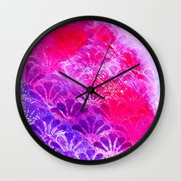 Pinky Purple Fanning Wall Clock