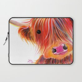 Scottish Highland Cow ' SWEET SATSUMA ' by Shirley MacArthur Laptop Sleeve