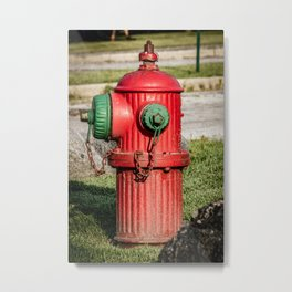 Profile of Fluted TCIW Fire Hydrant Traverse City Iron Works Fireplug Metal Print