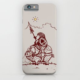 Nature Warriors: Battle Hedgehog iPhone Case