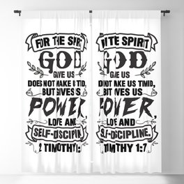 2 Timothy 1:7 Blackout Curtain
